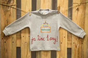 samarreta nen aniversari gris