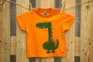 Samarreta drac taronja màniga curta
