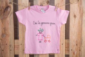 Samarreta germana rosa màniga curta