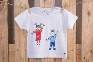 Samarreta nens blanc màniga curta